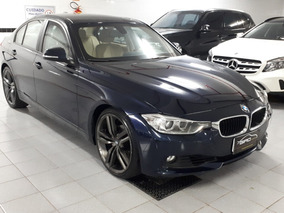 Bmw 320 2.0 Turbo 2013 Azul Interno Caramelo Blindada