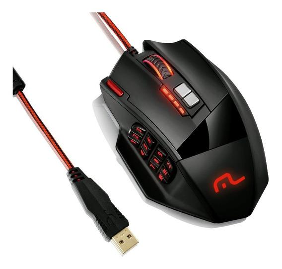 Mouse Gamer Multilaser 18 Botões 4000dpi Usb Mo206 Com Nfe