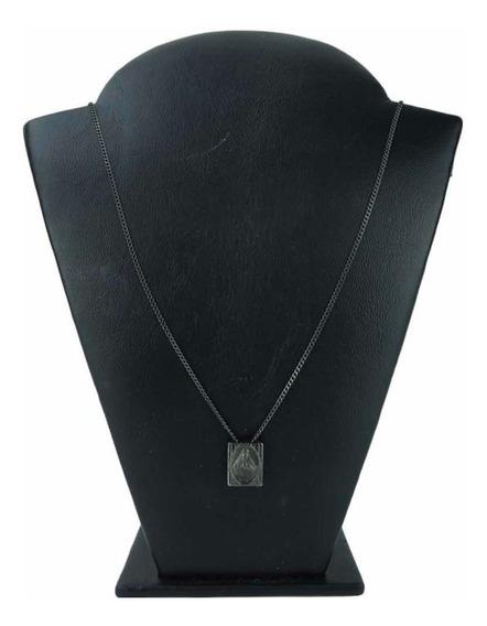 Escapulário Prata 925 Guerreiro Prata 67 Cm All Black