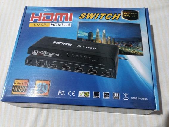 Switch Hdmi, 1080p, 3d, Funciona Com Ps4