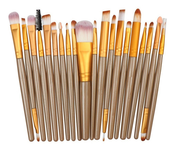 Kit Pincel Maquiagem Profissional 20 Peças Pronta Entrega