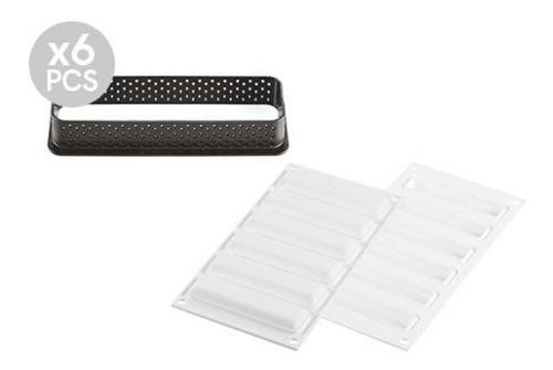 Molde Silikomart Kit Tarte Ring Rectangular 120x35/ Lauacu