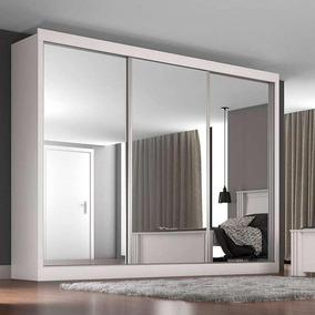 Guarda-roupa Casal 3 Portas C/ Espelho E 3 Gavetas Napoli -