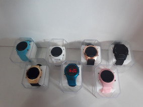 Kit Com 10 Relógios Feminino Digital+caixas Atacado Lote