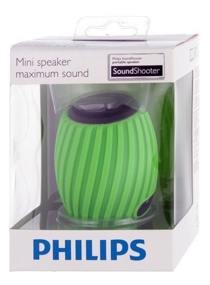 Caixa De Som Speaker Philips Sba3011grn/37 Usb Verde Lacrada
