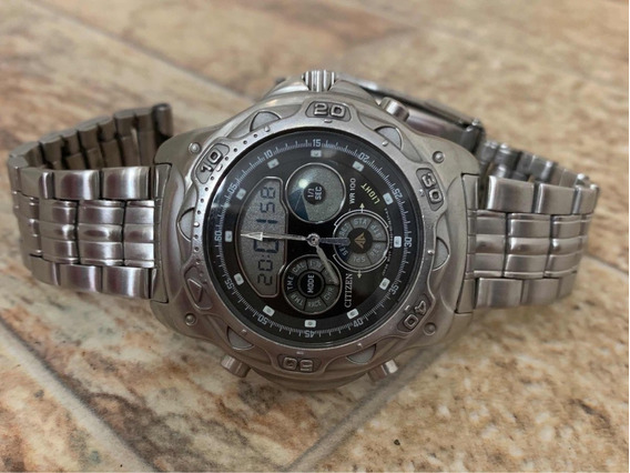 Relogio Citizen Yachting Fundo Preto C440