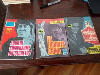 Espionaje Lote De 3 Comics Edic Toray 1965 Novela Grafica