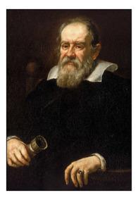 Quadro Decorativo Galileu Galilei Físico 42x29cm