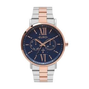 Relógio Euro Feminino Bicolor