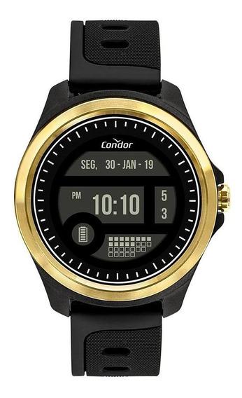 Relógio Masculino Condor Digital + Dourado - Original