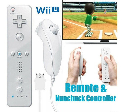 Imagen 1 de 8 de Control Remoto Inalámbrico Wii Wiimote Para Controlador Nunc