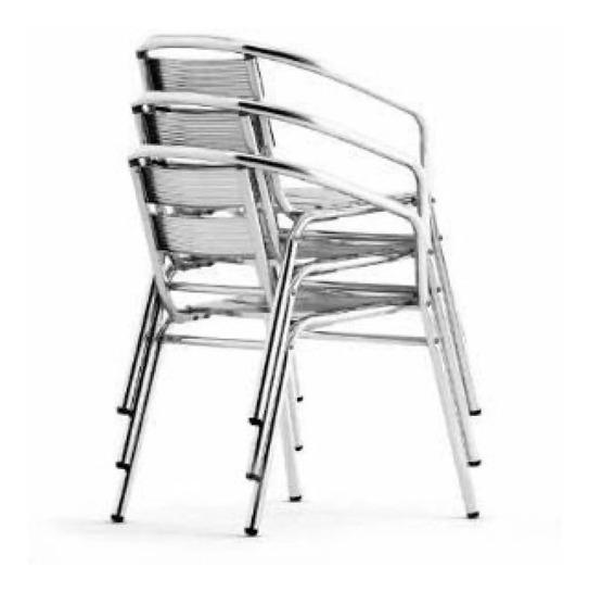 Casa Poltrona Alumínio Cadeira Varanda Empilhável