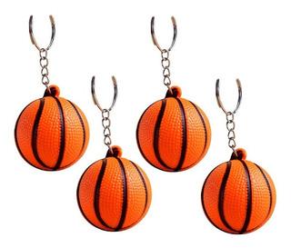 12 Llaveros Pelota De Basquet Basket De Goma Antiestres