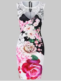 Vestido Bodycon Impresión Floral