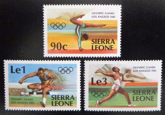 Sierra Leona Deportes, Serie Sc 614-6 Olímp 1984 Mint L10292