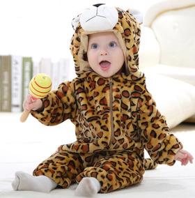 Macacão Inverno Para Bebê Leopardo 18-24 Meses Roupa Algodão