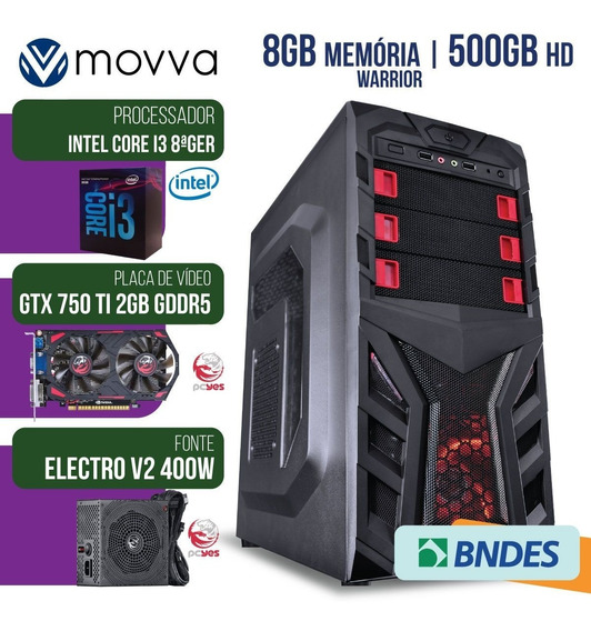 Computador Gamer Mvx3 Intel I3 8100 3.6ghz 8ª Ger. Mem. 8gb