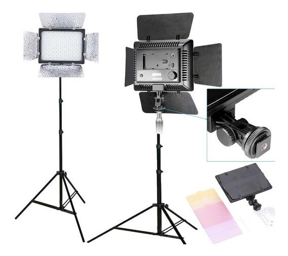 Kit Estudio Tripe Universal Iluminador Led 300 Filmagem W300