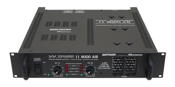 Amplificador Ciclotron W Power Ii 9000 Ab 2250w Rms