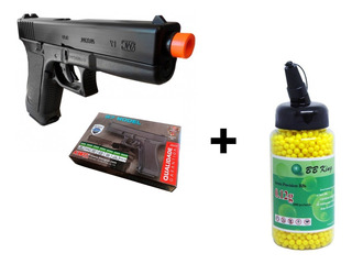 Pistola Airsoft Glock G7 Spring + Bbs 6mm 2.000 Uni