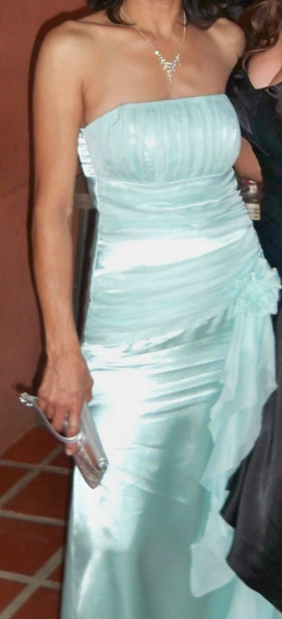 Vestido De Fiesta Largo Verde Agua