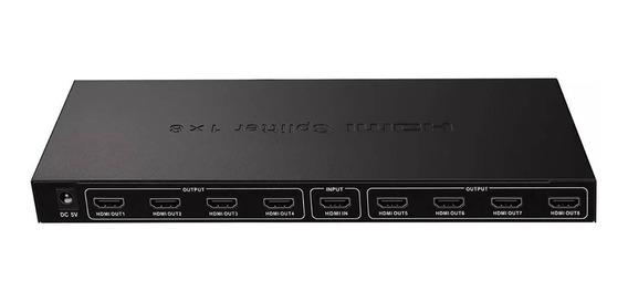 Splitter Hdmi 1x8 Salidas 1080p 2k4k Amplificador C/fuente