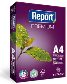 Papel Sulfite A4 90grs. Suzano Report 500fls.
