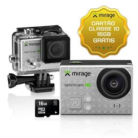 Câmera Ação Sport Hd Tela Lcd 2 5mp + Cartão 16gb - Mirage