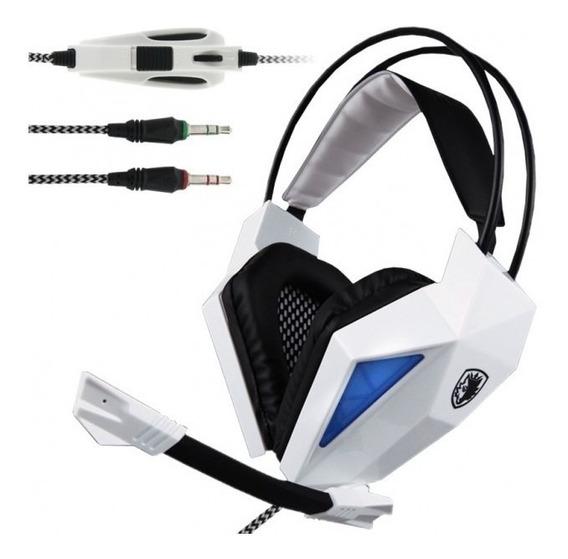 Headset Sades Sa709 Stereo Professional Gaming Com Microfone