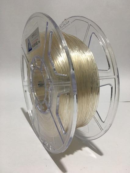 Filamento Flexivel Tpu Transparente_1,75mm-500g-fretegrátis