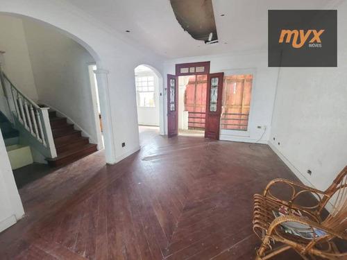 Casa Com 4 Dormitórios Para Alugar, 164 M² Por R$ 5.000,00/mês - Gonzaga - Santos/sp - Ca0934