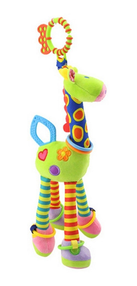 Brinquedo Girafa Mordedor Chocalho Bebê Pelúcia Naninha