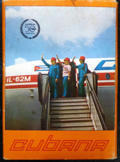 Tarjetas Postales Linea Aerea Cubana 50 Aniversario Aviones