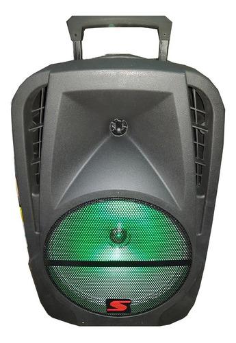 Parlante Portatil 12 Inalambrico Bateria Y 220v Radio Potencia 4000w Bluetooth + Microfono Karaoke Luces Led + Sonido