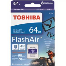 Cartão De Memória Sd Wifi Toshiba Flashair 64gb + Brinde
