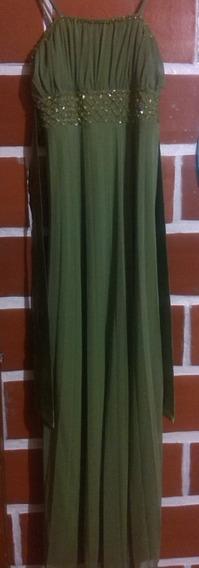 Vestido De Fiesta Largo Verde Aceituna