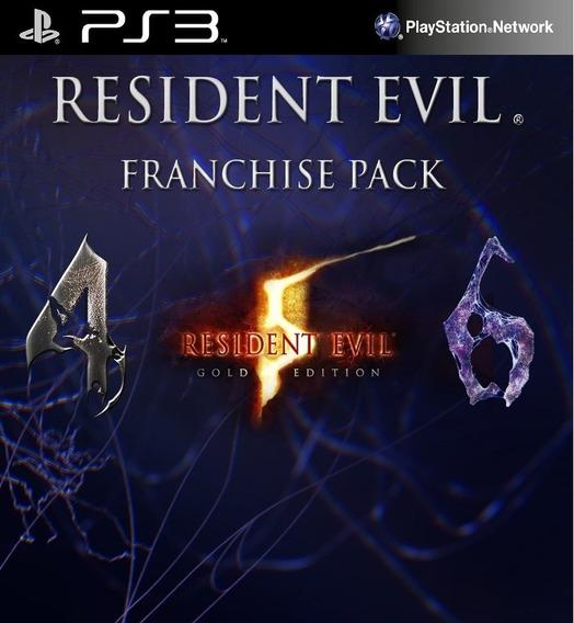 Resident Evil Franchise Pack 4,5,6- Ps3- Cod Psn - Na Hora