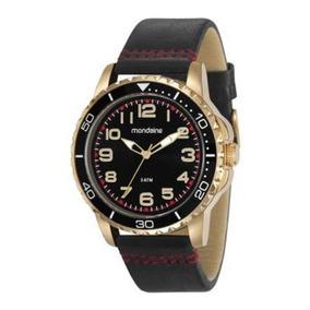 Relógio Mondaine Dourado Masculino 76710gpmvdh2 Com Nf