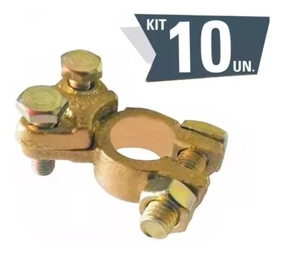 Kit Com 10 Terminal De Bateria Universal Modelo Sapo Sapão