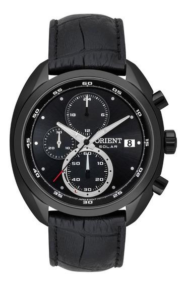 Relógio Orient Masculino Solar Mpscc011 P1px Preto Couro