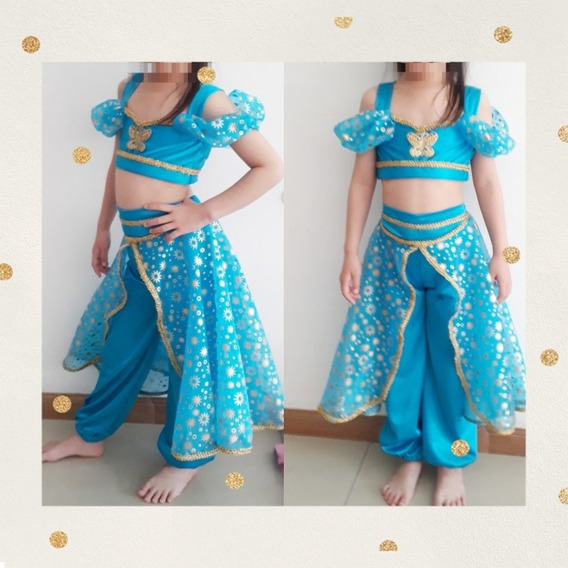 Disfraz Princesa Jazmin Disney Vestido Turquesa T. 4 Al 10