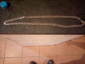 Corrente Prata 925, 10 Mm, 80 Cm Usada, Com Fecho Travado