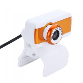 Webcam Digital Web Camera Plug & Play - Orange