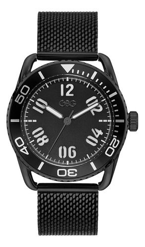 Reloj Para Caballero G By Guess Voyager G11955g2 Negro