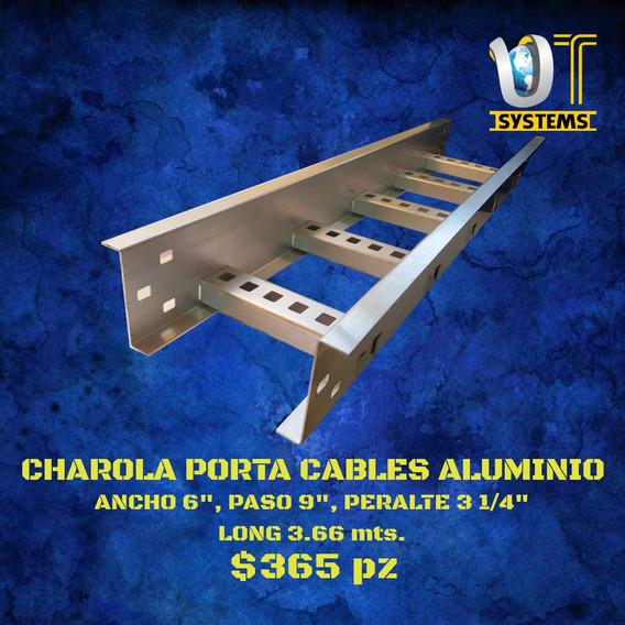 Charola Portacables Tramo Recto Alum 6 X 9 Peralte 3 1/4