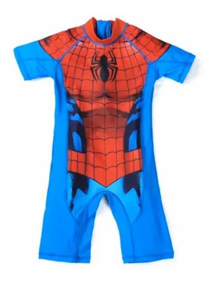 Traje De Baño Niño Super Héroes Iron Man/spiderman/hulk