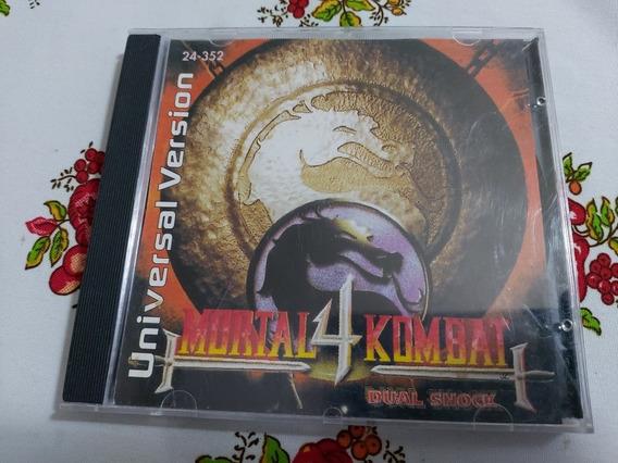 Mortal Kombat 4 Playstation One Ps1 Patch Prensado Prateado