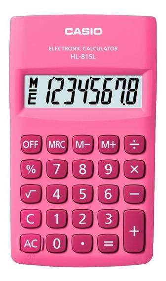 Calculadora De Bolso Casio 8 Dígitos Rosa - Hl-815l-pk