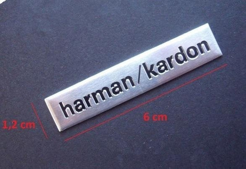 Emblema Sticker Harman Kardon Parlante Audi Bmw Kia X2piezas