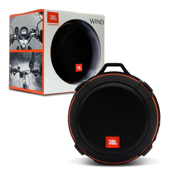 Caixa Bluetooth Jbl Wind Bike/moto Black Original + Nf